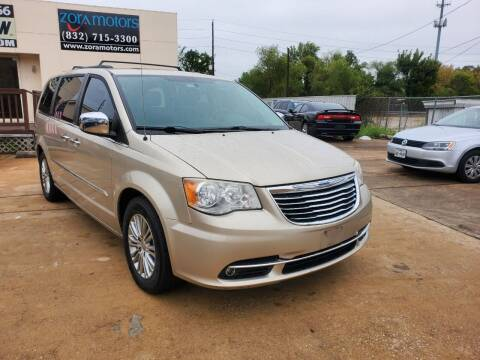 2013 Chrysler Town and Country for sale at Zora Motors in Houston TX