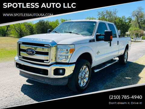 2012 Ford F-350 Super Duty for sale at SPOTLESS AUTO LLC in San Antonio TX