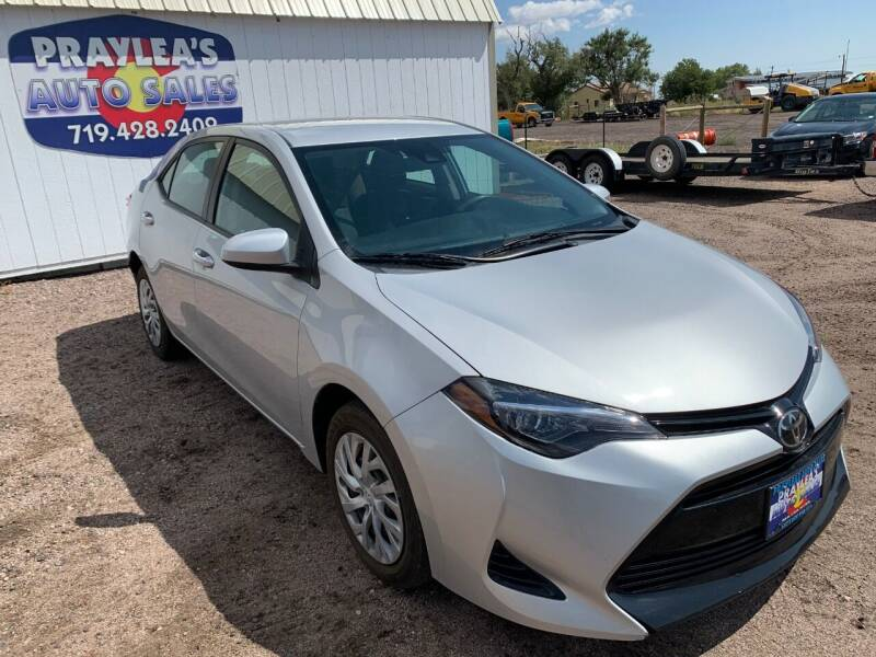 2018 Toyota Corolla for sale at Praylea's Auto Sales in Peyton CO