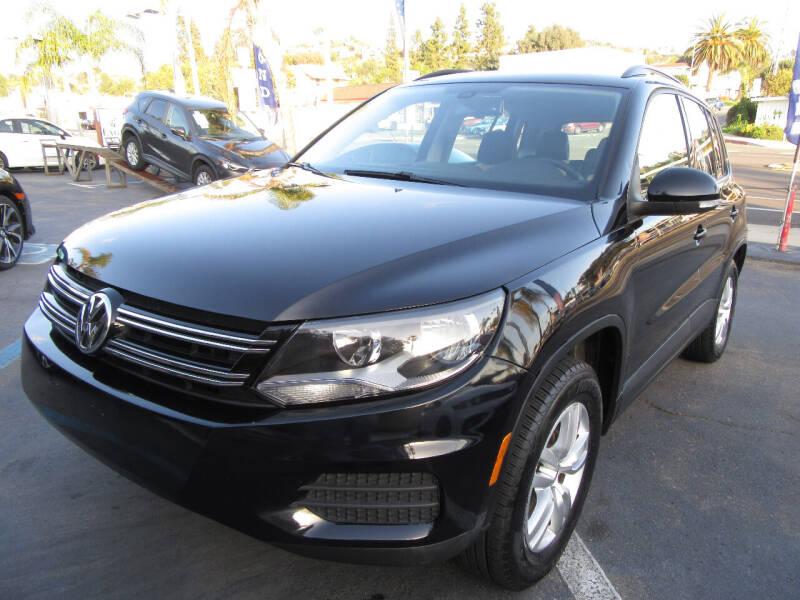 2016 Volkswagen Tiguan for sale at Eagle Auto in La Mesa CA