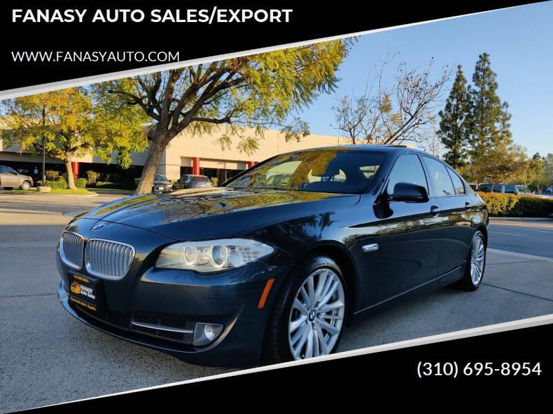 2012 BMW 5 Series for sale at FANASY AUTO SALES/EXPORT in Yorba Linda CA
