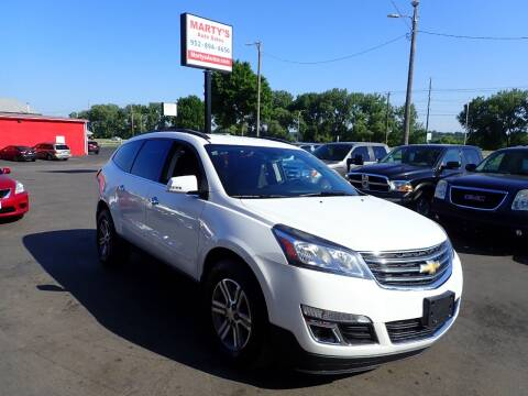 2015 Chevrolet Traverse for sale at Marty's Auto Sales in Savage MN