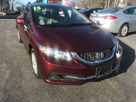 2015 Honda Civic for sale at Dad's Auto Sales in Newport News VA