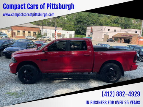2013 RAM Ram Pickup 1500 for sale at Compact Cars of Pittsburgh in Pittsburgh PA