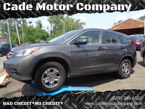 2013 Honda CR-V for sale at Cade Motor Company in Lawrence Township NJ