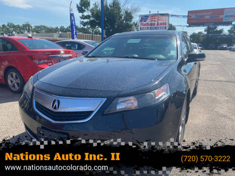 2014 Acura TL for sale at Nations Auto Inc. II in Denver CO