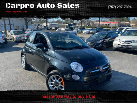 2012 FIAT 500c for sale at Carpro Auto Sales in Chesapeake VA