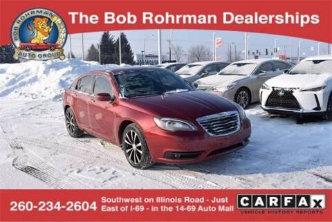 2012 Chrysler 200 for sale at BOB ROHRMAN FORT WAYNE TOYOTA in Fort Wayne IN