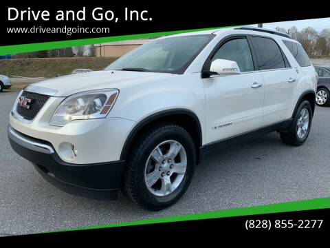 2008 GMC Acadia for sale at Drive and Go, Inc. in Hickory NC