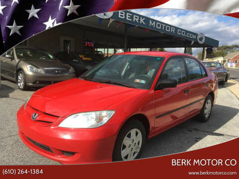 2005 Honda Civic for sale at Berk Motor Co in Whitehall PA
