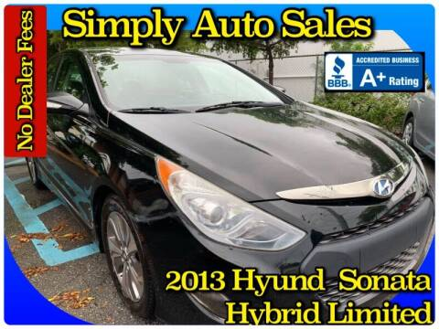 2013 Hyundai Sonata Hybrid for sale at Simply Auto Sales in Palm Beach Gardens FL