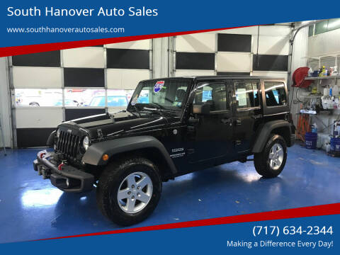 2016 Jeep Wrangler Unlimited for sale at South Hanover Auto Sales in Hanover PA
