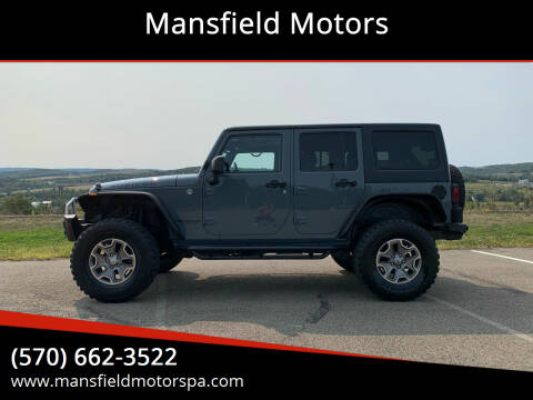 2014 Jeep Wrangler Unlimited for sale at Mansfield Motors in Mansfield PA