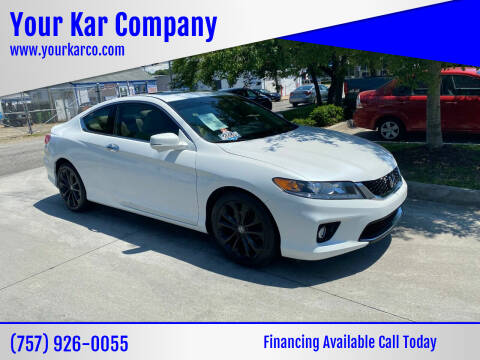 2015 Honda Accord for sale at Your Kar Company in Norfolk VA