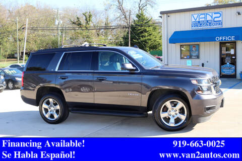 2016 Chevrolet Tahoe for sale at Van 2 Auto Sales Inc in Siler City NC