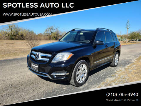 2013 Mercedes-Benz GLK for sale at SPOTLESS AUTO LLC in San Antonio TX