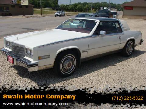 1983 Cadillac Eldorado for sale at Swain Motor Company in Cherokee IA