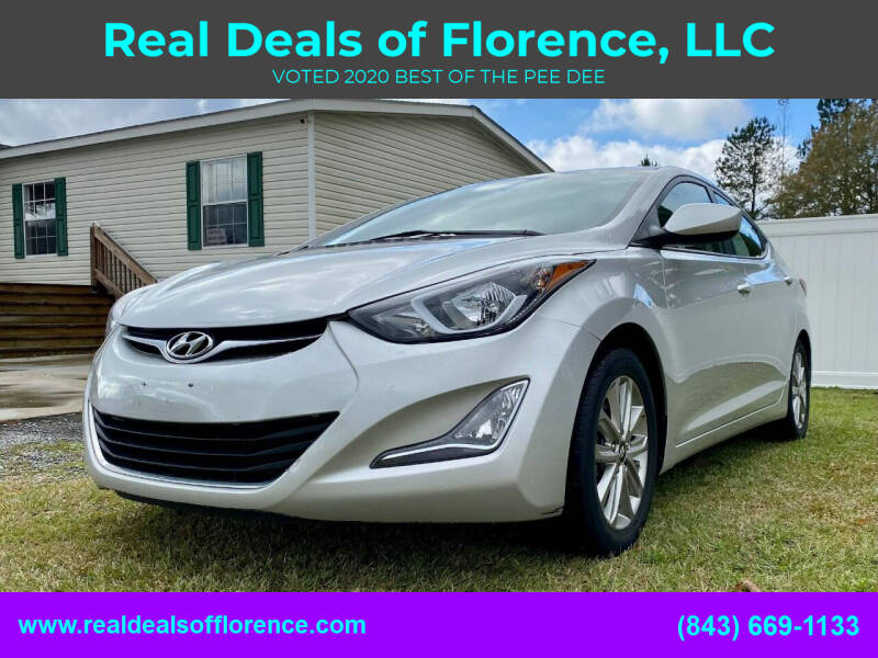 2016 Hyundai Elantra for sale at Real Deals of Florence, LLC in Effingham SC