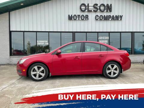 2012 Chevrolet Cruze for sale at Olson Motor Company in Morris MN