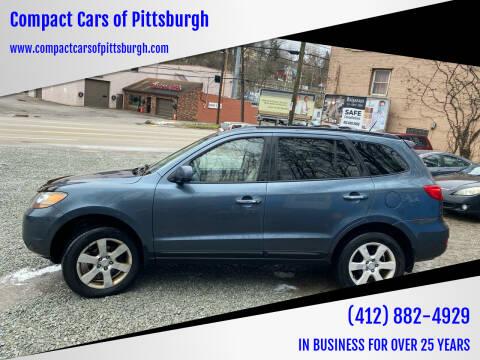 2009 Hyundai Santa Fe for sale at Compact Cars of Pittsburgh in Pittsburgh PA