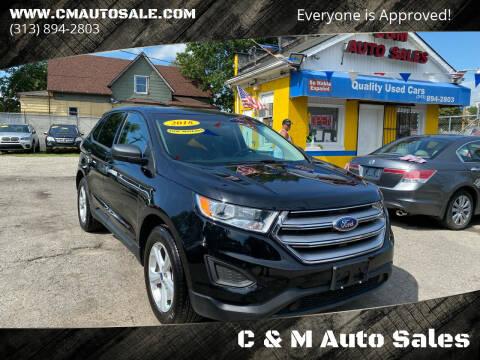 2018 Ford Edge for sale at C & M Auto Sales in Detroit MI