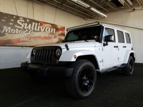 2014 Jeep Wrangler Unlimited for sale at SULLIVAN MOTOR COMPANY INC. in Mesa AZ