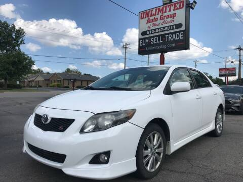 2010 Toyota Corolla for sale at Unlimited Auto Group in West Chester OH