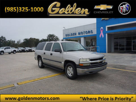 2004 Chevrolet Suburban for sale at GOLDEN MOTORS in Cut Off LA