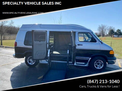 2002 Dodge Ram Van for sale at SPECIALTY VEHICLE SALES INC in Skokie IL
