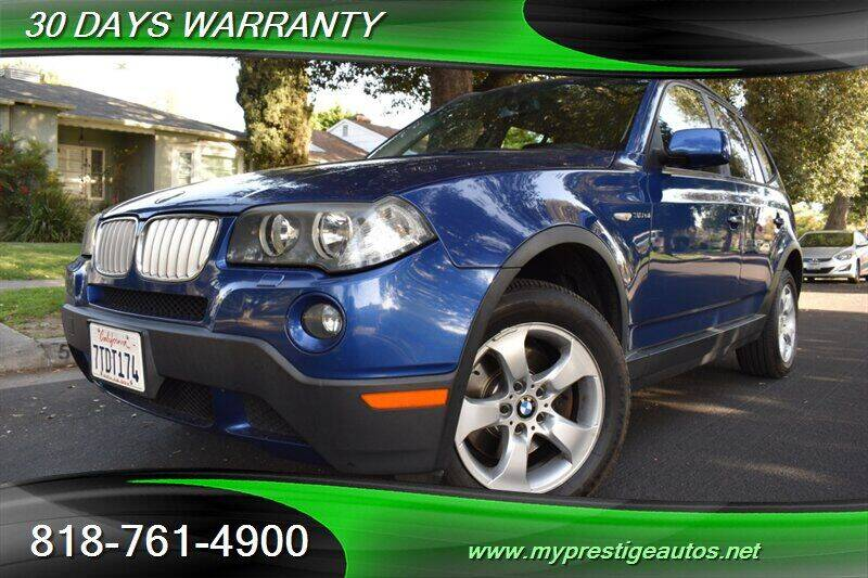 2007 BMW X3 for sale at Prestige Auto Sports Inc in North Hollywood CA