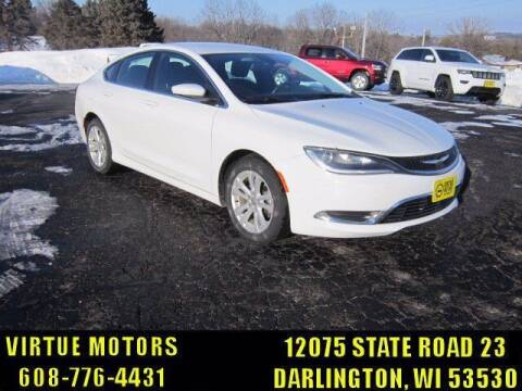 2015 Chrysler 200 for sale at Virtue Motors in Darlington WI