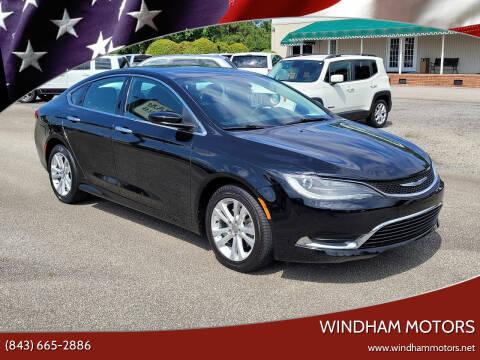 2016 Chrysler 200 for sale at Windham Motors in Florence SC