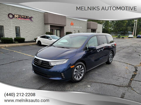 2021 Honda Odyssey for sale at Melniks Automotive in Berea OH