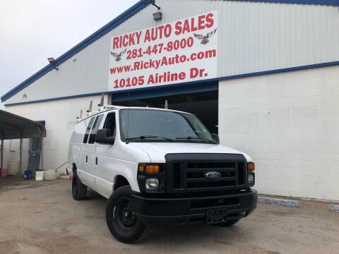 2012 Ford E-Series Cargo for sale at Ricky Auto Sales in Houston TX