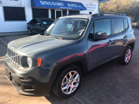 2017 Jeep Renegade for sale at Discount Auto Company in Houston TX