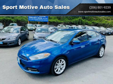2013 Dodge Dart for sale at Sport Motive Auto Sales in Seattle WA