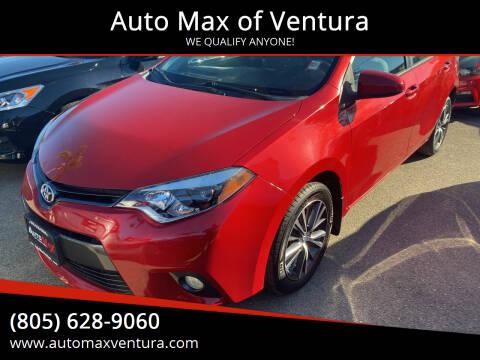 2016 Toyota Corolla for sale at Auto Max of Ventura in Ventura CA
