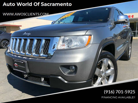 2012 Jeep Grand Cherokee for sale at Auto World of Sacramento Stockton Blvd in Sacramento CA
