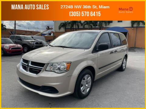 2013 Dodge Grand Caravan for sale at MANA AUTO SALES in Miami FL