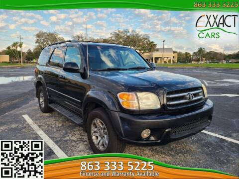2003 Toyota Sequoia for sale at Exxact Cars in Lakeland FL
