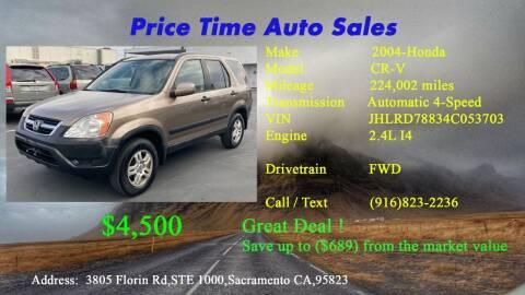 2004 Honda CR-V for sale at PRICE TIME AUTO SALES in Sacramento CA