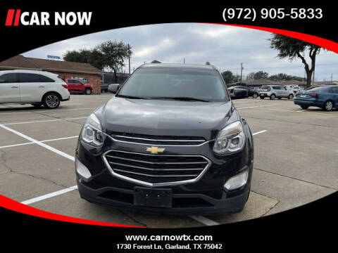 2016 Chevrolet Equinox for sale at Car Now Dallas in Dallas TX