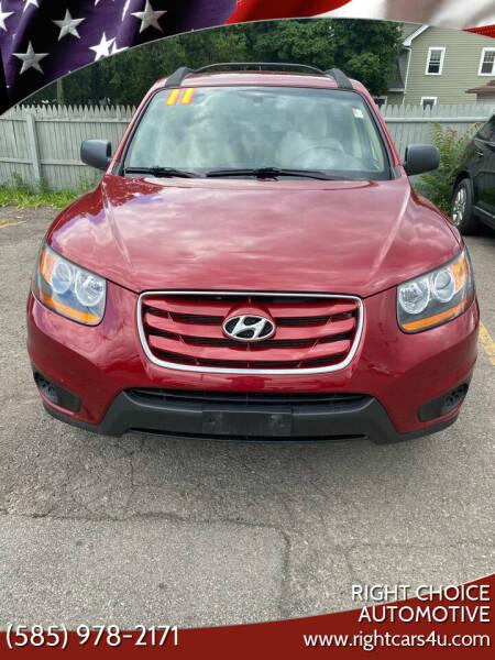 2011 Hyundai Santa Fe for sale at Right Choice Automotive in Rochester NY