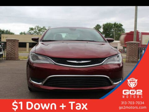 2016 Chrysler 200 for sale at Go2Motors in Redford MI