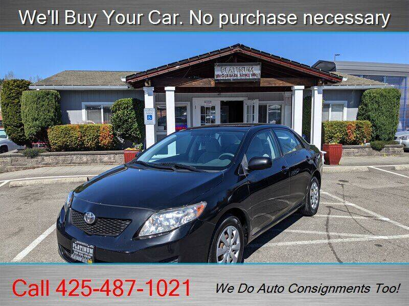 2010 Toyota Corolla for sale at Platinum Autos in Woodinville WA