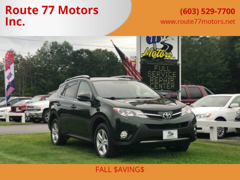 2013 Toyota RAV4 for sale at Route 77 Motors Inc. in Weare NH