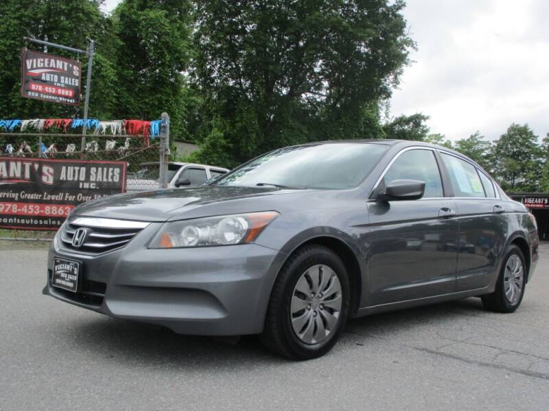 2012 Honda Accord for sale at Vigeants Auto Sales Inc in Lowell MA