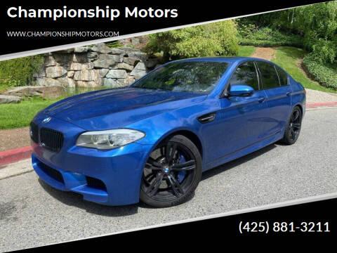 2013 BMW M5 for sale at Championship Motors in Redmond WA
