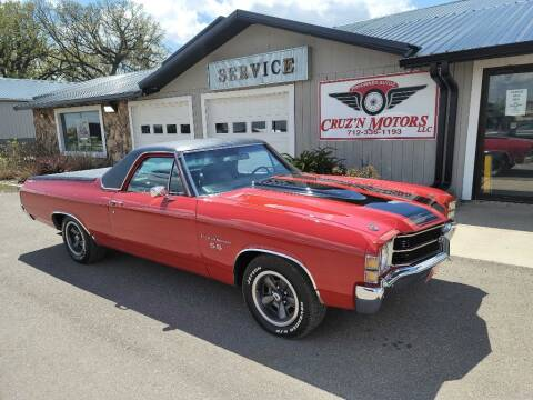 1971 Chevrolet El Camino for sale at CRUZ'N MOTORS - Classics in Spirit Lake IA