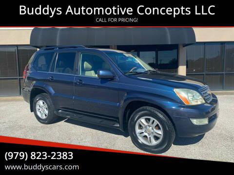 2003 Lexus GX 470 for sale at Buddys Automotive Concepts LLC in Bryan TX